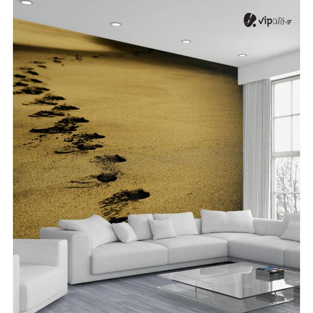 Ταπετσαρία Τοίχου  Βήματα στην άμμο - Sand Footsteps