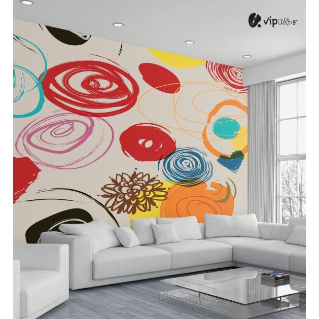 Ταπετσαρία Τοίχου Έγχρωμος σχεδιασμός - Colored Design