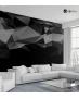 Ταπετσαρία Τοίχου Σκούρα πολύγωνα - Dark Polygons