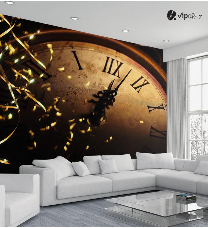 Ταπετσαρία Τοίχου ρολόϊ - Clock