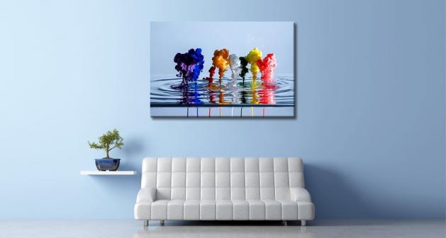 Καμβάς Χρώματα σε Νερό