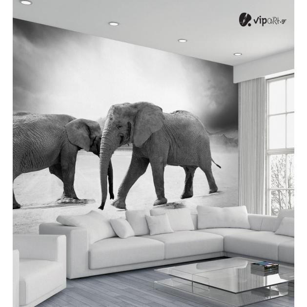 Ταπετσαρία Τοίχου με εκτύπωση Ελέφαντες