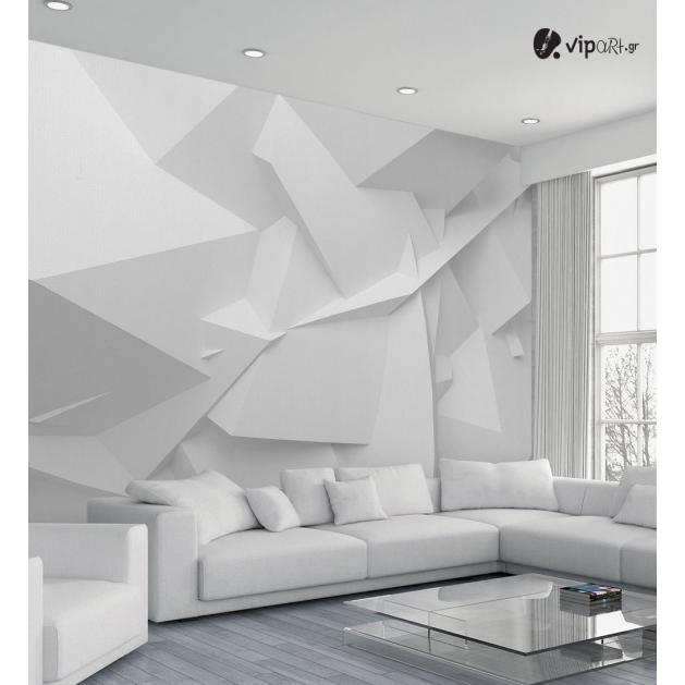 Ταπετσαρία Τοίχου 3D εκτύπωση White