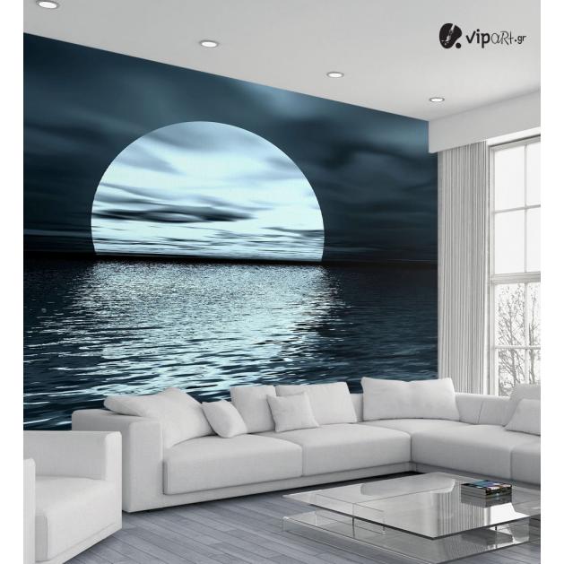 Ταπετσαρία Τοίχου Θάλασσα αντανάκλασης της Σελήνης -  Moon Reflection Sea