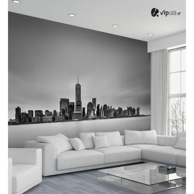 Ταπετσαρία Τοίχου B&W City πόλεις - ουρανοξύστες