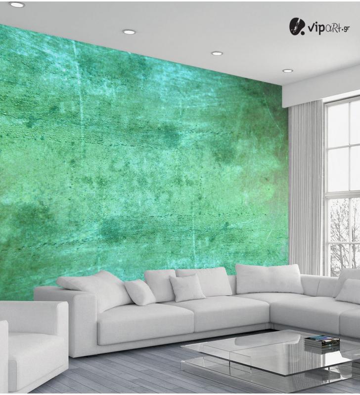 Ταπετσαρία Τοίχου τεχνοτροπία Aquacado Grunge παλιός πράσινος τοίχος