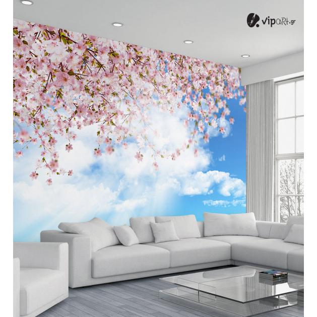 Ταπετσαρία Τοίχου Ουρανός Δέντρο