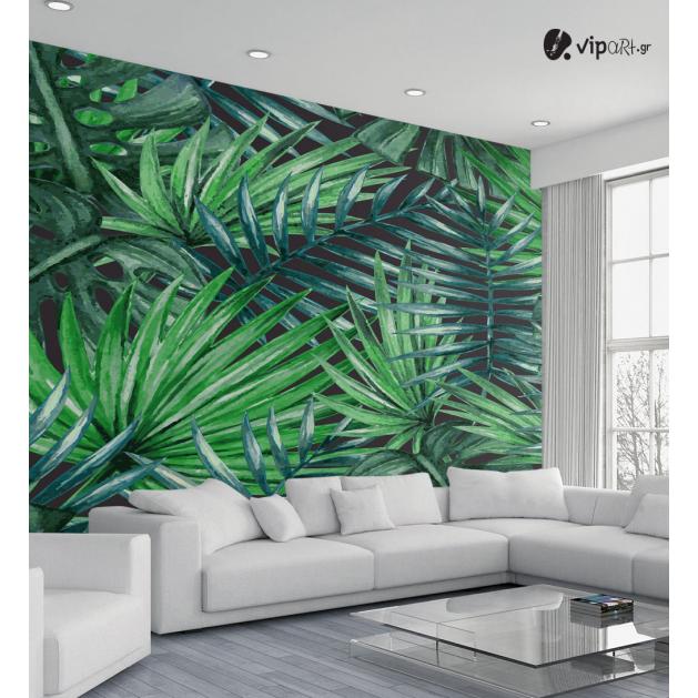 Αυτοκόλλητη Ταπετσαρία Τοίχου Tropical Palm Leaves