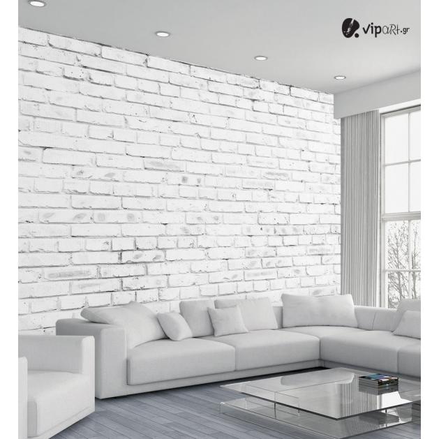 Αυτοκόλλητη Ταπετσαρία Τοίχου με Λευκά - Άσπρα παλιά τούβλα