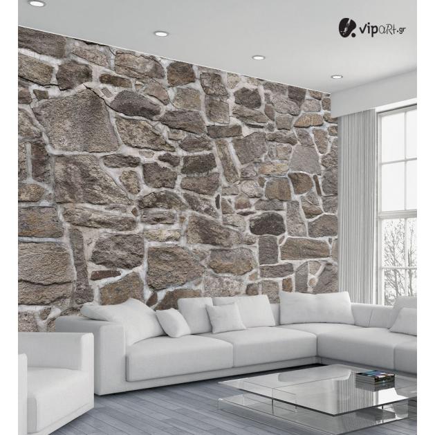 Αυτοκόλλητη Ταπετσαρία Τοίχου με Πέτρα 3d