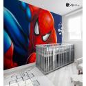 Αυτοκόλλητη Ταπετσαρία Τοίχου για Παιδικό Δωμάτιο με παιδικούς ήρωες Spiderman