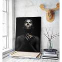 Πίνακας σε Καμβά woman dark skin gold makeup art 2