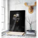 Πίνακας σε Καμβά woman dark skin gold makeup art 3