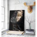 Πίνακας σε Καμβά woman dark skin gold makeup art 5