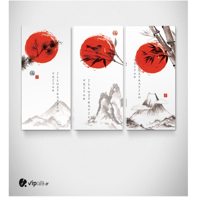 Πίνακας Καμβάς Τρίπτυχος China art