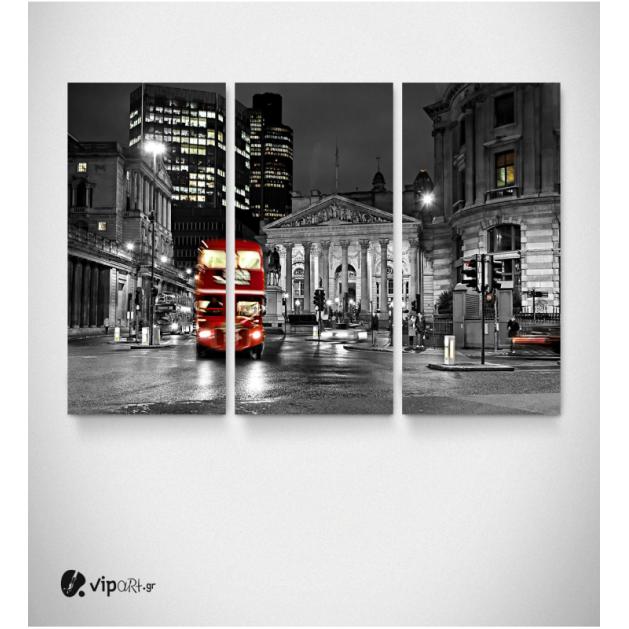 Καμβάς Τρίπτυχος Πίνακας Red Bus London
