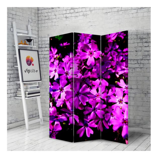 Διακοσμητικό Παραβάν μωβ λουλούδια Purple Flowers