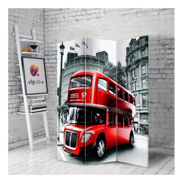 Διακοσμητικό Παραβάν Red Bus