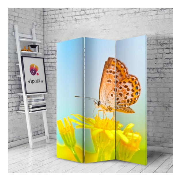 Διακοσμητικό Παραβάν Πεταλούδα Λουλούδι - Butterfly