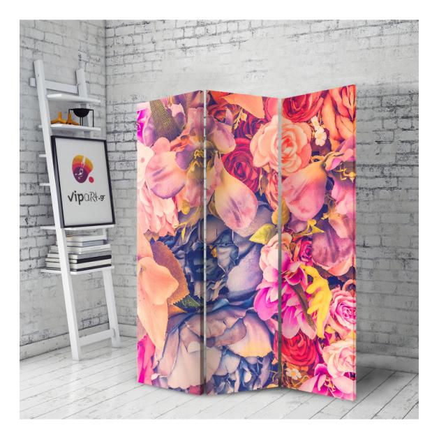 Παραβάν Flowers Colorful - Πολύχρωμα Λουλούδια