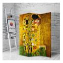 Διακοσμητικό Παραβάν Σε Καμβά το φιλί Klimt The Kiss