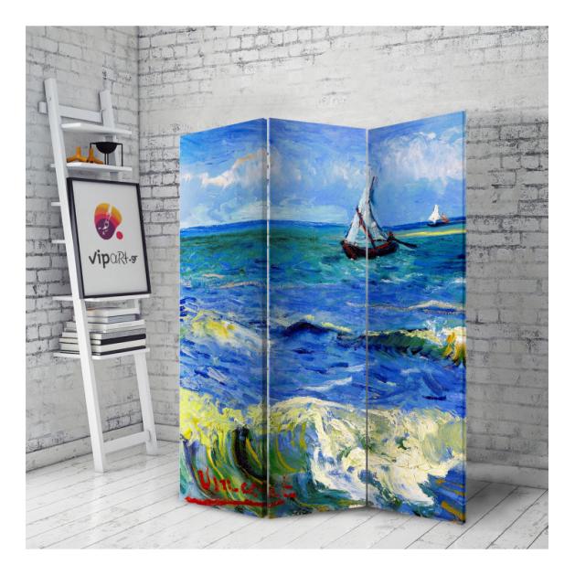 Διακοσμητικό Παραβάν Σε Καμβά Seascape - Βαν Γκογκ