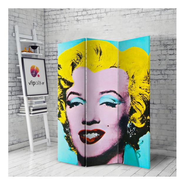 Διακοσμητικό Παραβάν Σε Καμβά Andy Warhol - Merlin Monroe