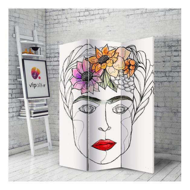 Διακοσμητικό Παραβάν Σε Καμβά Frida Kahlo Σχέδιο