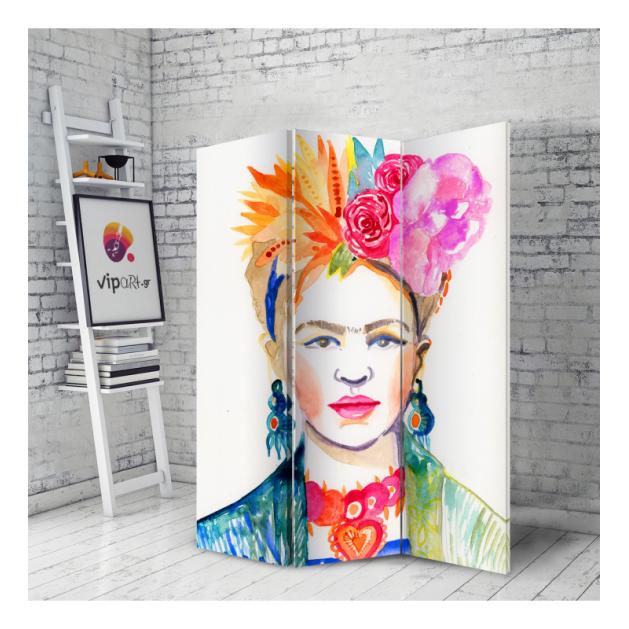 Διακοσμητικό Παραβάν  Σε Καμβά Frida Kahlo