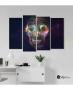Πίνακας Καμβάς Τετράπτυχος  abstract skull
