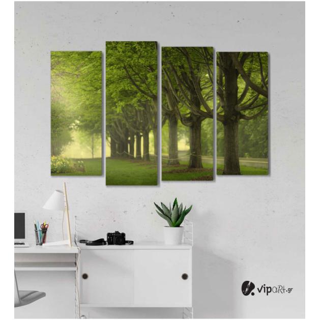 Πίνακας Καμβάς Τετράπτυχος  Δέντρα & Φύση