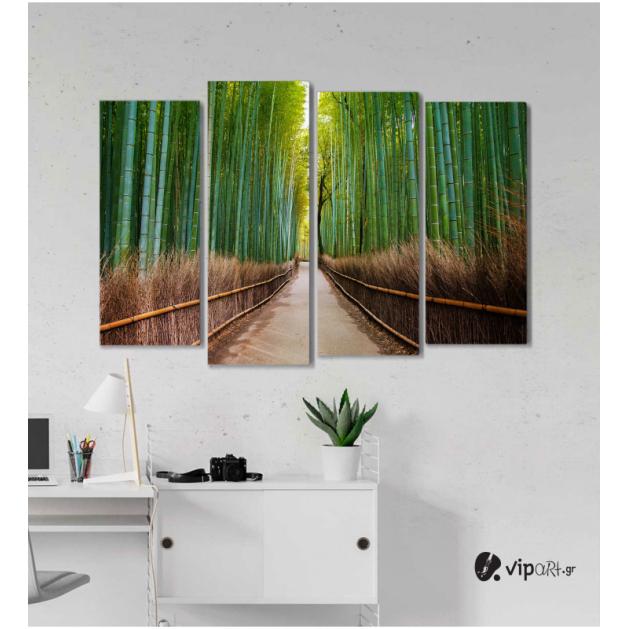 Πίνακας Καμβάς Τετράπτυχος Bamboo