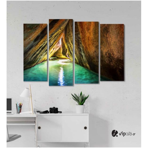 Πίνακας Καμβάς Τετράπτυχος Σπηλιά