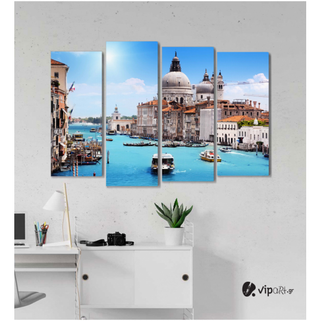 Πίνακας Καμβάς Τετράπτυχος Ιταλία - Italy