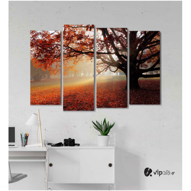 Πίνακας Καμβάς Τετράπτυχος Lonely Tree - Μοναχικό δέντρο