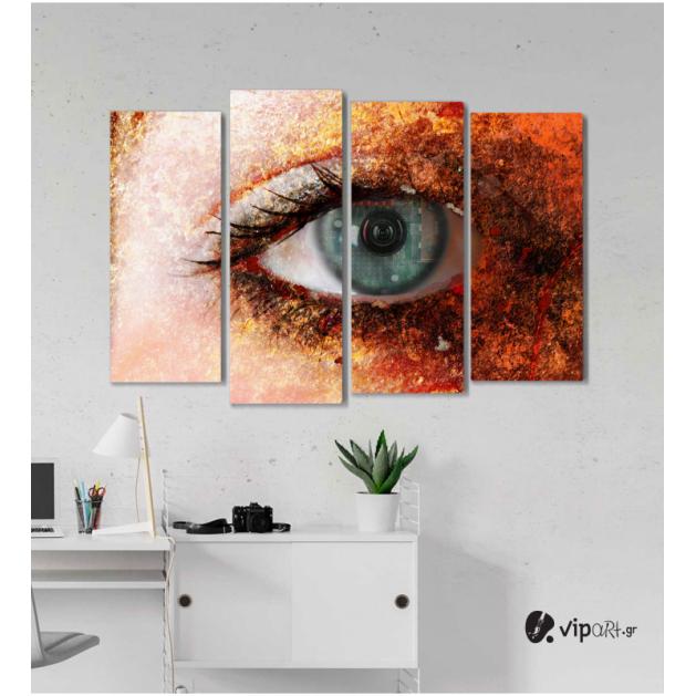 Πίνακας Καμβάς Τετράπτυχος Eye Camera