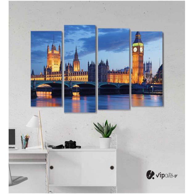 Πίνακας Καμβάς Τετράπτυχος London Bridge - η γέφυρα του Λονδίνου