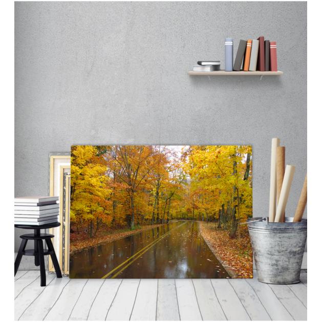 Πίνακας Καμβάς Δρόμος Δέντρα Φθινόπωρο