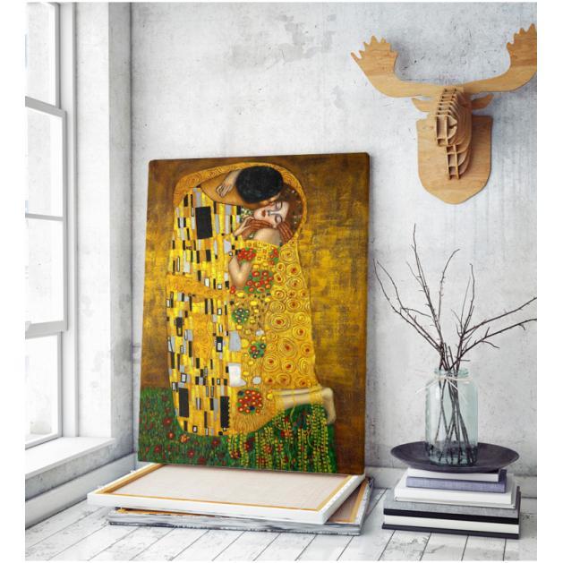 Πίνακας ζωγραφικής Καμβάς Το Φιλί (Γκούσταφ Κλιμτ) gustav klimt