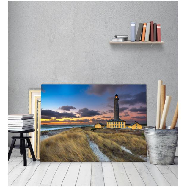 Πίνακας Καμβάς Ηλιοβασίλεμα Θάλασσα Φθινόπωρο