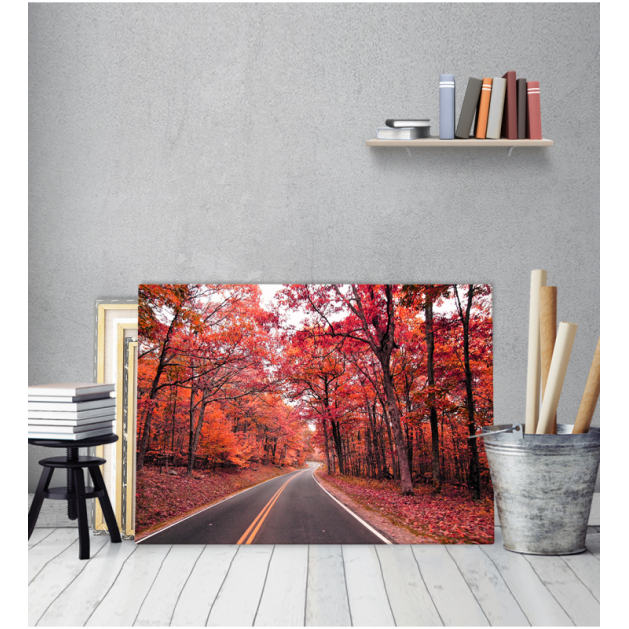 Πίνακας Καμβάς Δρόμος Σε Κόκκινο Δάσος