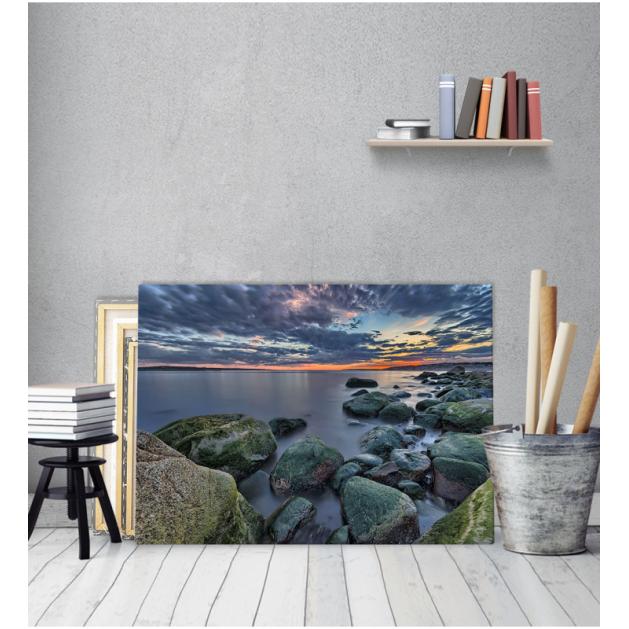 Πίνακας Καμβάς Πέτρες Θάλασσα