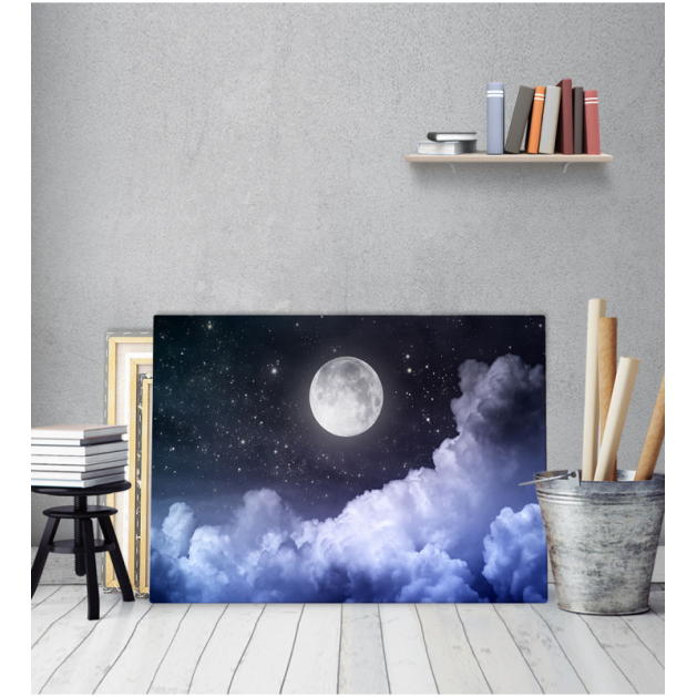 Παιδικός πίνακας Καμβάς Νύχτα Με Πανσέληνο