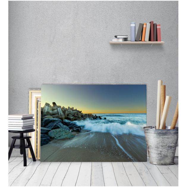 Πίνακας Καμβάς Θάλασσα και Ηλιος