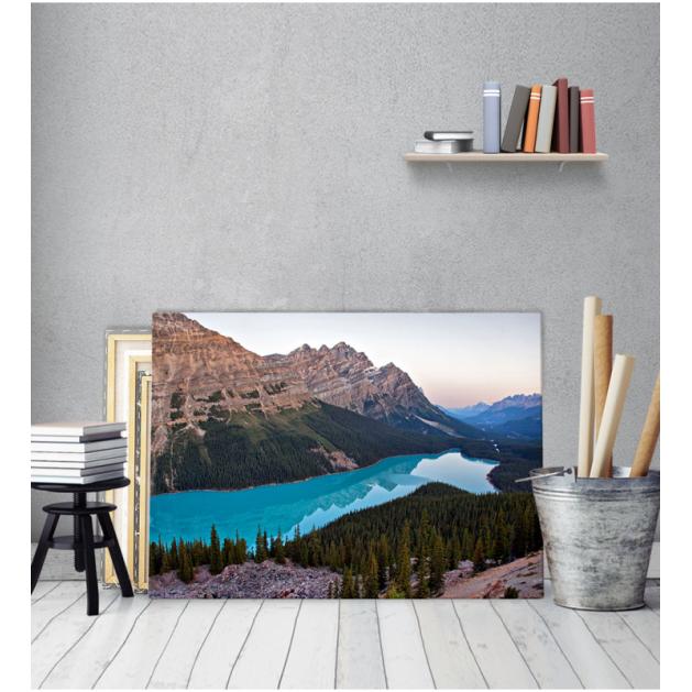 Πίνακας Καμβάς Λίμνη Και Βουνά