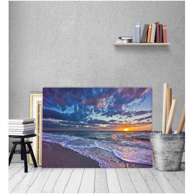 Πίνακας Καμβάς Ηλιοβασίλεμα παραλία
