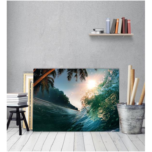 Πίνακας Καμβάς  Ηλιοβασίλεμα Κύμα