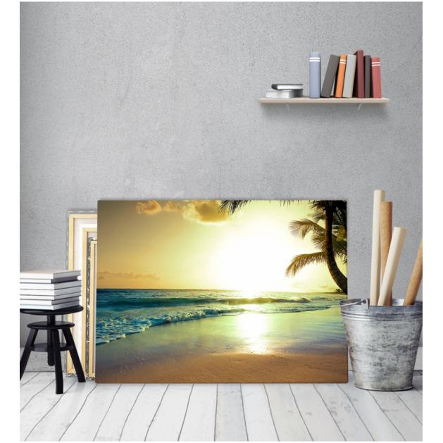 Πίνακας Καμβάς Τοπίο Θάλασσα και Ήλιος