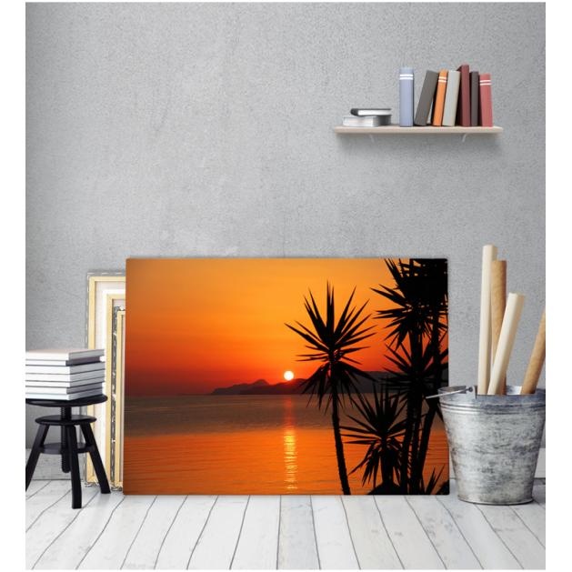Πίνακας Καμβάς Θάλασσα Ηλιοβασίλεμα