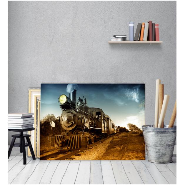 Πίνακας Καμβάς Παλιό - Vintage Τρένο